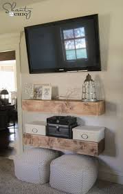 Wall Mounted Tv Remodelaholic Ways To Hide Or Decorate Around The TV Table For