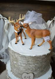 Stunning Design Hunting Wedding Cake Toppers Redoubtable Buck And Doe Topper Deer