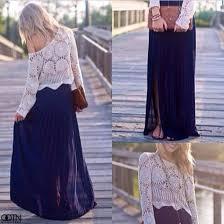 women girly cool skirt maxi skirt blue skirt blue