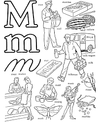 Letter M Coloring Pages Printable Sheets Preschool Free