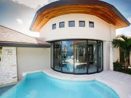 100 Sliding Exterior Walls Curved Glass Wall On Contemporary Home HGTV