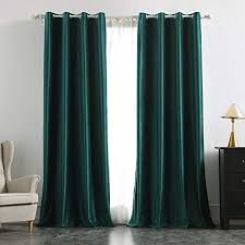 miulee 2 stück verdunklungsvorhang samtvorhänge blickdicht vorhang mit ösen thermogardine ösenvorhang verdunkelungsgardinen für schlafzimmer