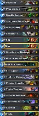 oil rogue decklists and mulligans from the pros hearthstone