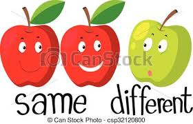 Opposite Adjectives With Same And Different Vector 1698