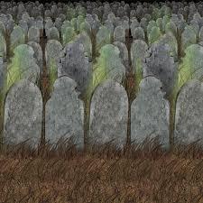 Carnival Scene Setters Halloween by Amazon Com Beistle 00900 Graveyard Backdrop 4 U0027 X 30 U0027 Kitchen