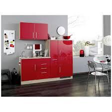 single küche in rot hochglanz breite 190 cm teramo 03 inkl kühlschrank kochmulde spüle
