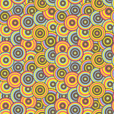 Download Seamless Pattern With Colorful Circles In Retro Style Stock Vector