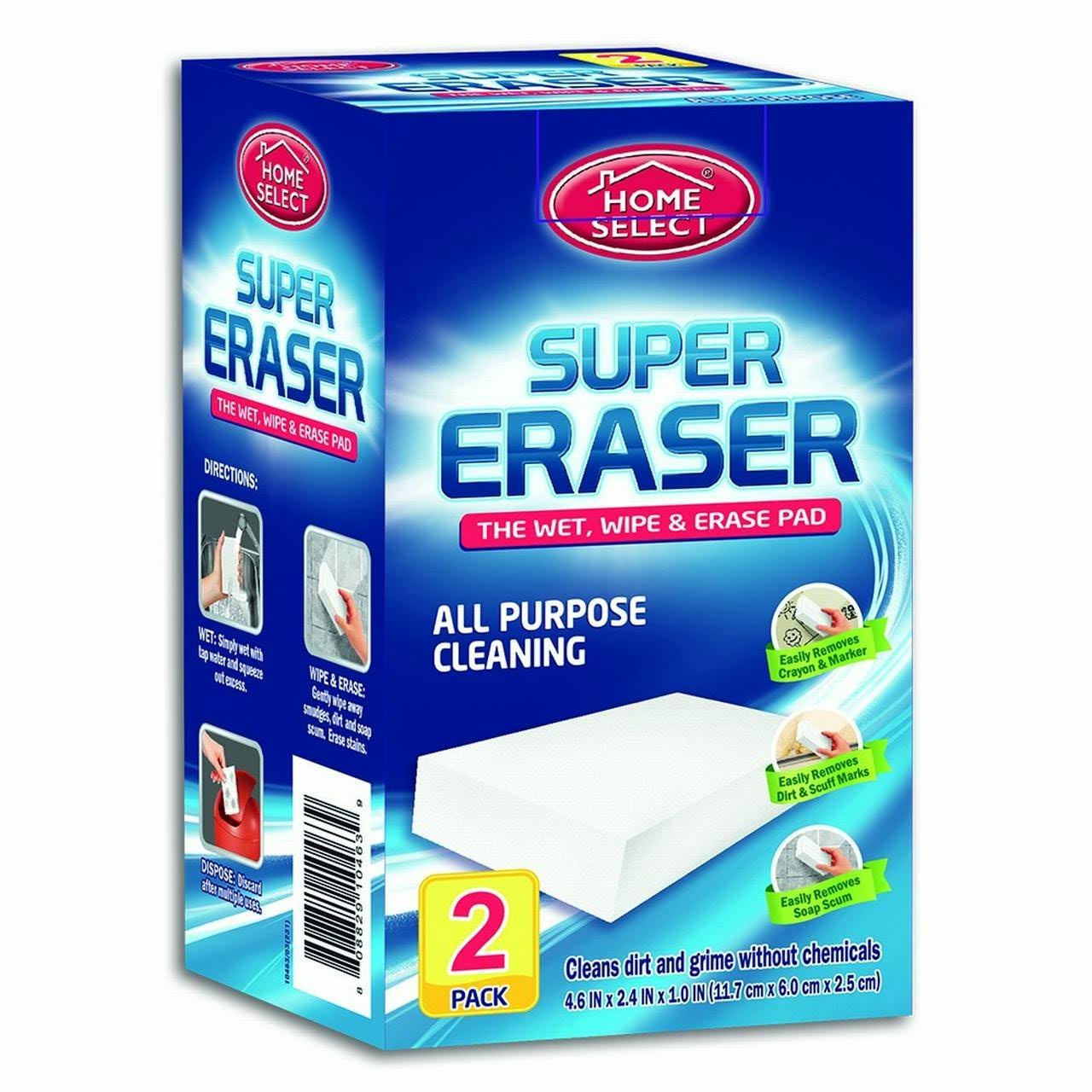 Home Select Super Eraser Cleaning Pads - 12pk