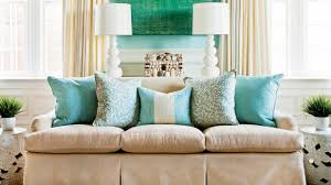 Teal Couch Living Room Ideas by How To Arrange Sofa Pillows Southern Living