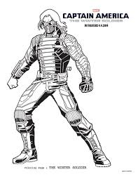 6 CAPTAIN AMERICA THE WINTER SOLDIER Coloring Sheets To Keep Best Of Free Printable Captain America Pages