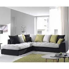 canapé tissu canapé angle gris et noir en tissu sofamobili