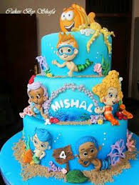 bubble guppies mr grouper under the sea cake for a 1st birthday