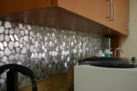 river rock pattern mosaic stainless steel tile emt 110 sil sm