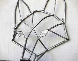 Amazing Design Geometric Metal Wall Art Silver Fox Etsy