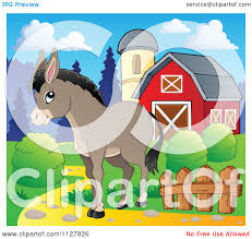Cartoon Of A Cute Donkey Near A Barn - Royalty Free Vector Clipart ... Farm Animals Barn Scene Vector Art Getty Images Cute Owl Stock Image 528706 Farmer Clip Free Red And White Barn Cartoon Background Royalty Cliparts Vectors And Us Acres Is A Baburner Comic For Day Read Strips House On Fire Clipart Panda Photos Animals Cartoon Clipart Clipartingcom Red With Fence Avenue Designs Sunshine Happy Sun Illustrations Creative Market