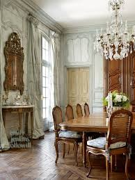 French Style Dining Room Furniture Design Drapes