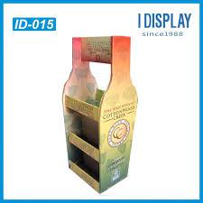 Tier Cardboard Rack For Wine Pos Point Of Sale And Floor Display Beer