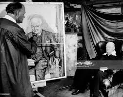 Winston Churchills Iron Curtain Speech by Winston Churchill Painted By Max Nauta Pictures Getty Images