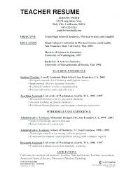 How To Write A Good Teacher Resume Examples Of Resumes For Teachers