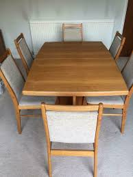 Teak Dining Table And Six Chairs | In Chandlers Ford, Hampshire ... Danish Mondern Johannes Norgaard Teak Ding Chairs With Bold Tables And Singapore Sets Originals Table 4 Uldum Feb 17 2019 1960s 6 By Greaves Thomas Mcm Teak Table Niels Moller Chairs Etsy Mid Century By G Plan Round Ding Real 8 Seater Jamaica Set Temple Webster Nisha Fniture Sheesham Wooden Balcony Vintage Of 244003 Vidaxl Nine Piece Massive Chair On Retro