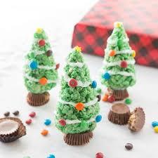 Easy Christmas Tree Rice Krispies Treats Recipe
