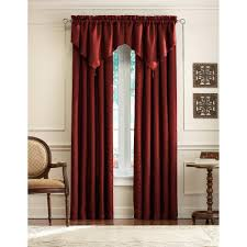 Waterfall Valance Curtain Set by Decor Black Penneys Curtains With Curtain Rods And Ikea Side