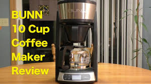 BUNN 10 Cup Programmable Coffeemaker Review Holiday Gift For Coffee Lovers