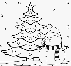 Printable Christmas Tree Coloring Pages For Kids Cool2bKids Within Page