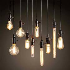 edison bulb hanging lights pendant light fixture brushed nickel by