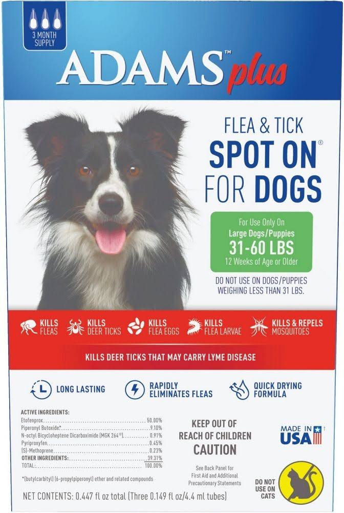 Adams Plus Flea and Tick Spot on Dogs Large