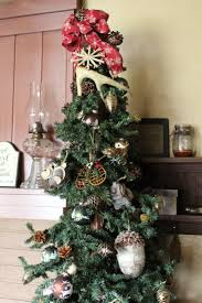 Artificial Country Christmas Trees Fresh Decor Ideas Primitive Rustic Lodge Tree Deer Antler Topper