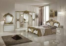 details zu luxus schlafzimmer weiß gold italienisches design 160x200 6 türig