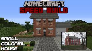 Pictures Small Colonial House by Minecraft Speed Build Small Colonial House