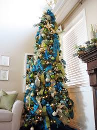 Christmas Tree Decorating Ideas With Ribbon Theme Baby Nursery Entrancing Trees Mesh Beautiful Deco