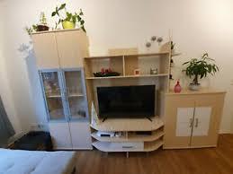 details zu wohnzimmer schrankwand hellbraun weiß