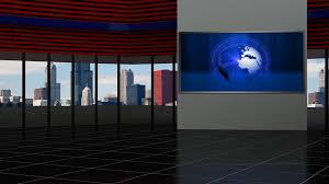 News TV Studio Set 93