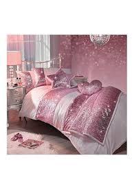 Kylie Minogue Sequin Scatter Pink Single Duvet Cover Set