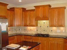 Kitchen Backsplash Ideas With Oak Cabinets by Subway Tile Backsplash With Oak Cabinets Google Search Kitchen