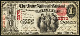 1863 $1 Bill Value How Much Is 1863 Home National Bank of