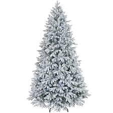 D26 75ft Pre Lit Collin Flocked Christmas Tree