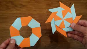 How To Make A Paper Transforming Ninja Star