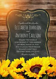 Creative Country Sunflower Wedding Invitations Best Vintage Rustic Cards