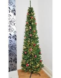 Christmas Tree Flocking Spray Uk by Buy Slim U0026 Pre Lit Slimline Artificial Christmas Trees