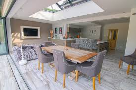 Contemporary Orangery With Solarlux SL 60 Bifold Doors Maidenhead Berkshire