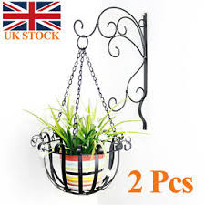 Image Is Loading Rustic Iron Flower Stand Balcony Wall Hanging Basket