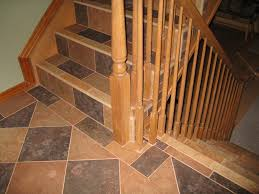Wood Stair Nosing For Tile by Living Room Ceramic Tile On Stair Risers Wood Look Tile On