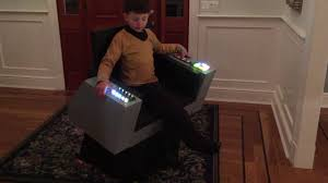 Star Trek Captains Chair by Tos Kirk Captain U0027s Chair Costume Youtube