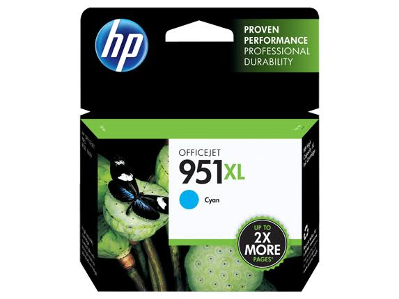 HP 951XL High Yield Original Ink Cartridge - Cyan