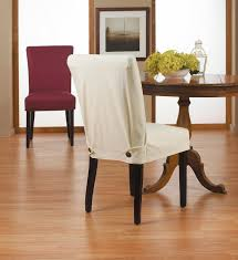 Charming Chair With Storehouse Furniture Slipcovers In White Plus Wooden Table On Floor For Dining