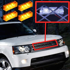 4x3 LED Mini Car Front Grille Strobe Lights Head Auto Truck Grille ...